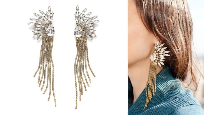 Vintage Crystal Flower Earrings  By Shay Accessories  We can imagine Jean Harlow clipping on these glamorous earrings as an accompaniment to one of her slinky satin gowns. Gold, glamorous and timeless, they dress up any outfit with vintage-inspired style.