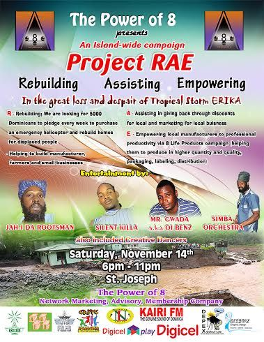 The Power Of 8: The Power Of 8 Presents Project RAE Saturday, Nov, 14st, 2015