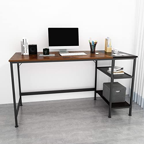 New Joiscope Computer Desk Shelves Laptop Table Grid Drawer 55