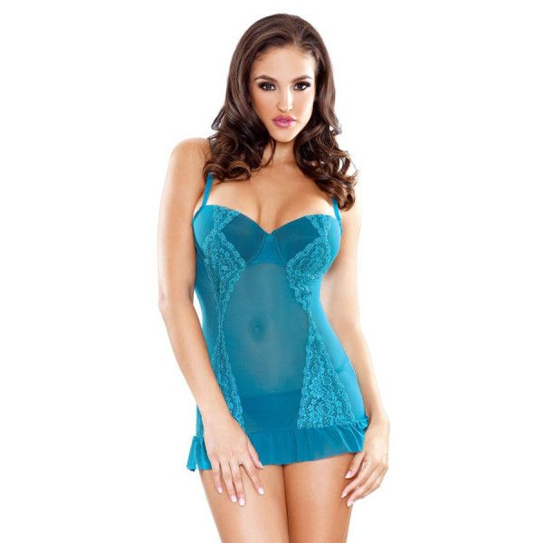 Tease Shirred Cup Babydoll & Panty Set - Adult Gifts Australia