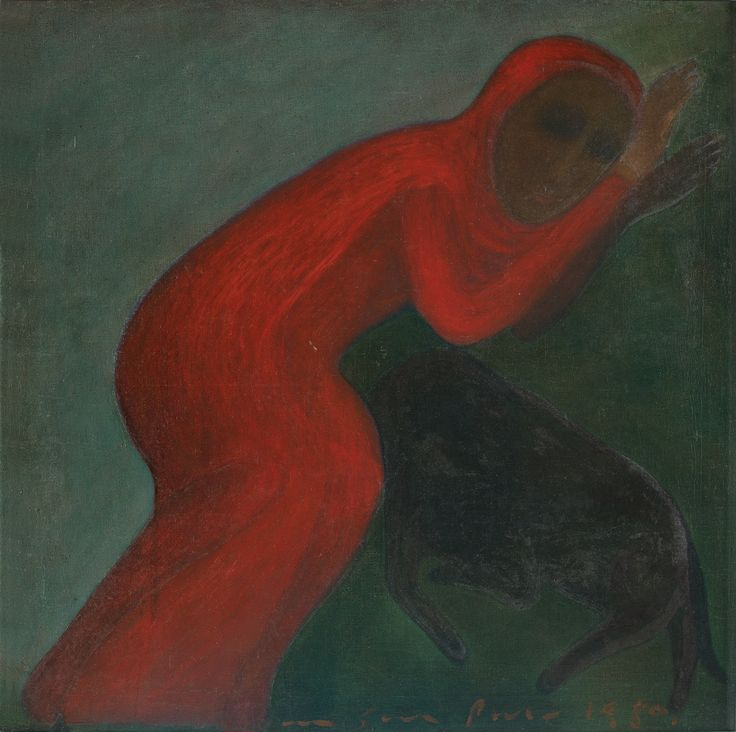 Lot No. 63 GOGI SAROJ PAL Relationship Oil on canvas, 1980 40.0 x 40.0 in.