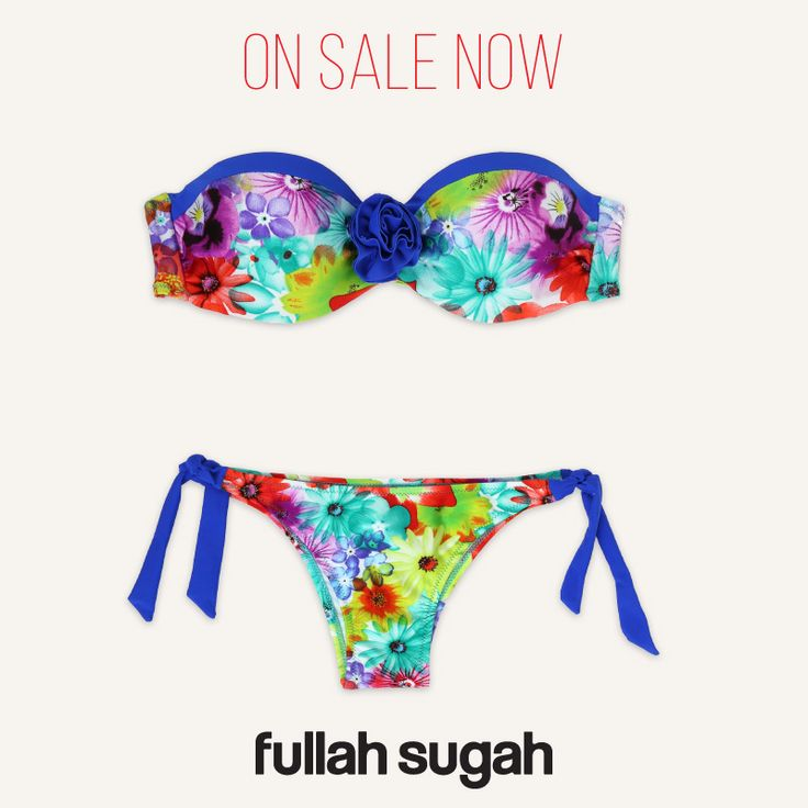 On Sale Now! Fullah Sugah Φλόραλ bikini top | 2428104730251 #sales #fashion #trends #style #summer_look #swimwear