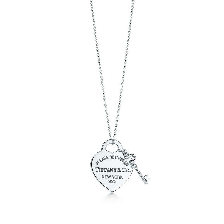 Return to Tiffany®:Heart Tag with Key Pendant $175