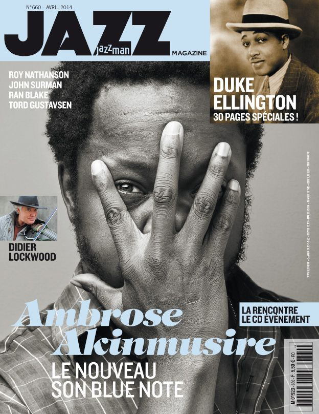 "Check out Ambrose Akinmusire on the cover of France's Jazzman Magazine! ""the imagined savior is far easier to paint"" is his widely praised new Blue Note album."