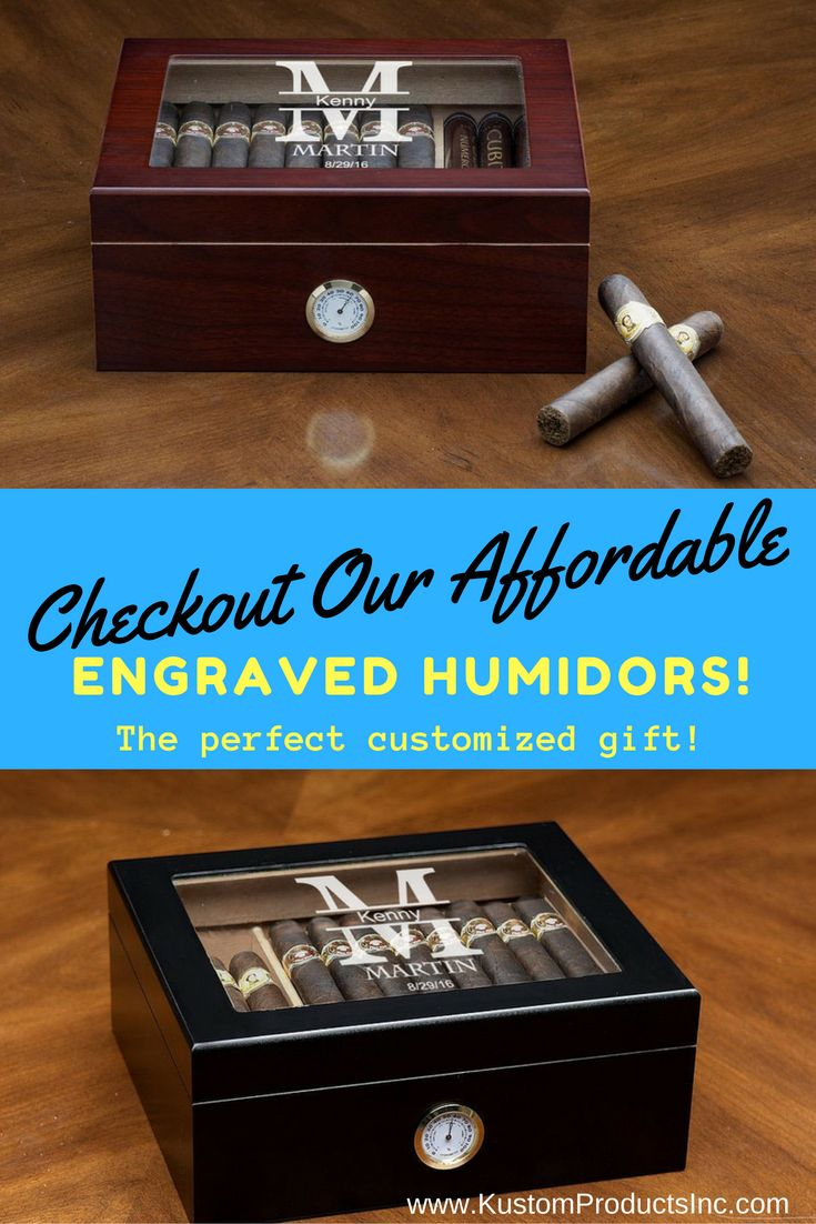 Need the perfect groomsmen gift? How about a Christmas or Anniversary present for the man in your life? This custom engraved Humidor Cigar Box is the unique, affordable gift you have been looking for!