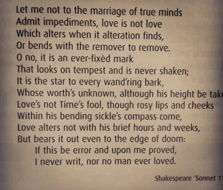 Shakespeare sonnet 116