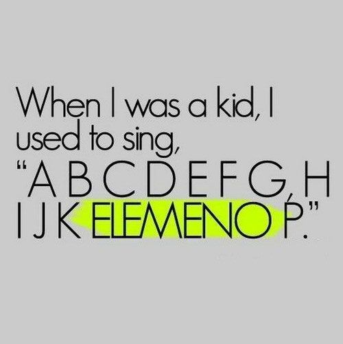 when I was a kid? hell how about whenever I alphabetize something