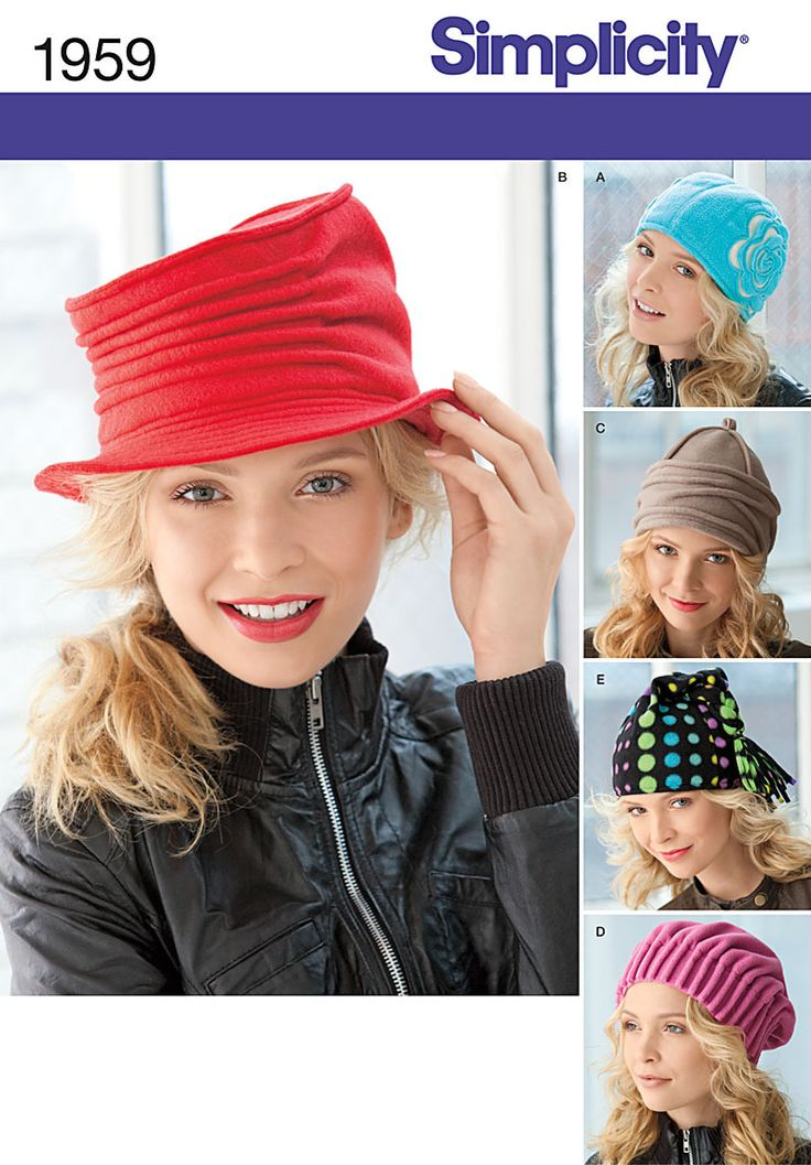 Patron chapeau SIMPLICITY 1959 - A - hiver POLAIRE femme moderne -toutes tailles : Patrons par flashassociation
