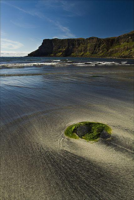 Scotland.    Talisker bay, Isle of Skye, Scotland.  Photograph  by sven483, via Flickr.