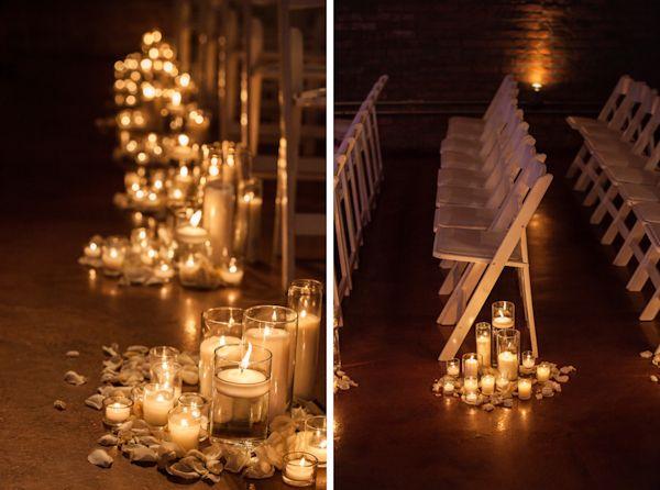 beautiful candles at wedding ceremony - California Weddings: http://www.pinterest.com/fresnoweddings/