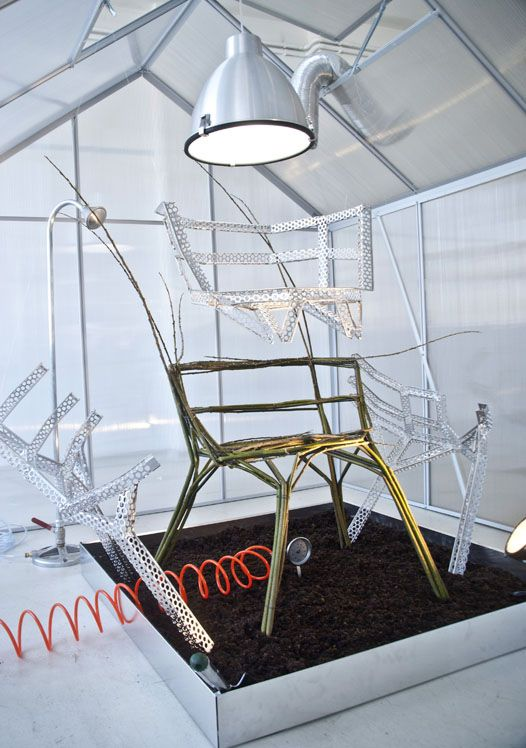 "Studio Aisslinger: The chair farm concept is as simple as it is radical. A ""plantation chair"" produced in an agricultural Lab is an production utopia of the future..."