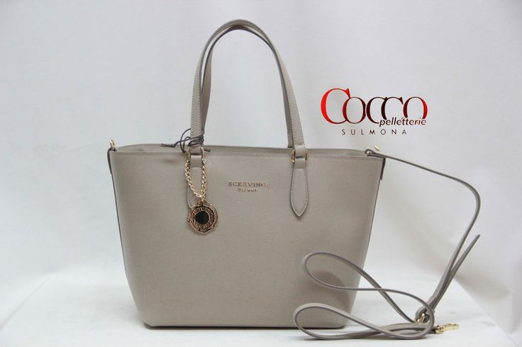 BORSA MANICI IN PELLE SCERVINO STREET LINEA  DAIMA ART.404 TAUPE MADE IN ITALY
