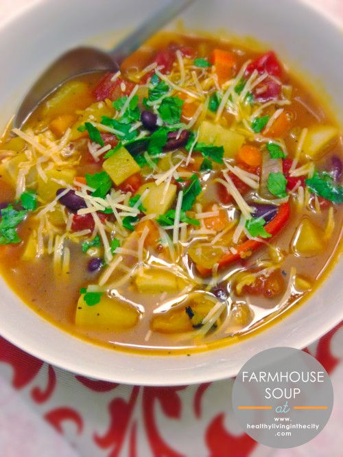 Farmhouse soup (SOUP) uses onion, carrots, turnips, rutabaga, crushed ...
