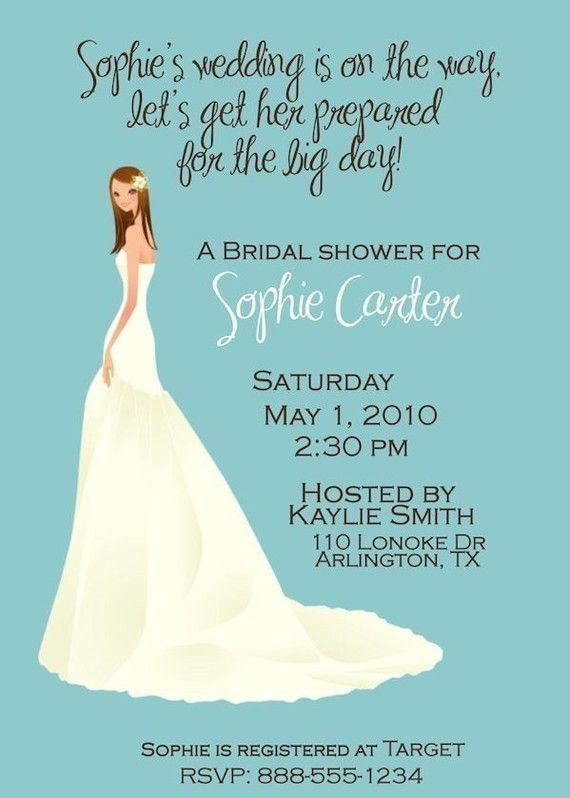 Customized Bridal Wedding Shower Invitation Digital File You pick colors Bride on Etsy, $12.00