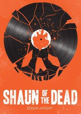 record vinyl shaun of the dead hot fuzz the worlds end simon pegg blood horror movie cinema film
