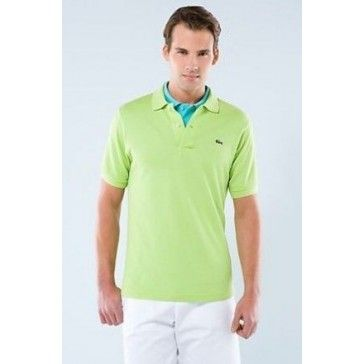 Men Polo Shirt Short Sleeve, Light Green