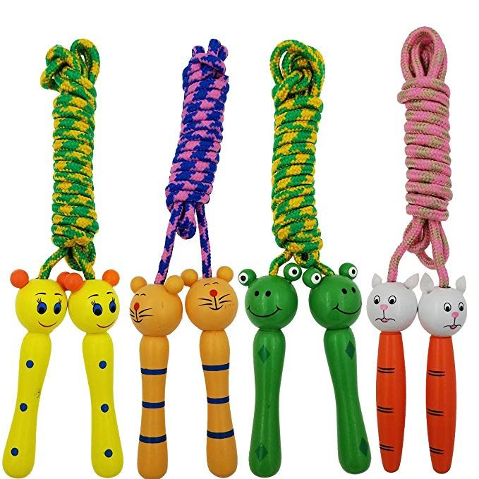 Wooden Handle Skipping Rope Outdoor Toy Kid Fitness Exercise Activity