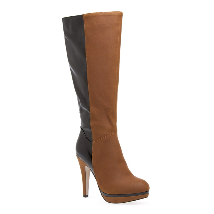 Cool boots with contrasting colors.Knee High