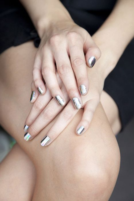 yes please! Super Metallic Nails - via Love Life Blog