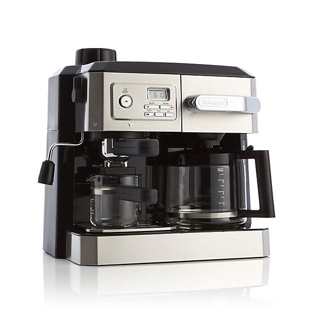 delonghi combination coffee and espresso machine crate and barrel