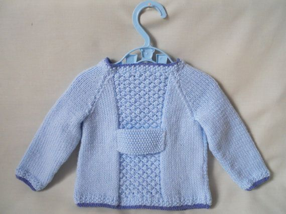 Hand Knitted Baby Boy Coat Jacket & Hat Set baby by littledazzler