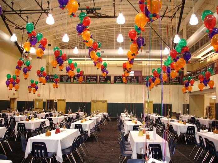 How to decorate a gym for a party celebrate for Event planning decorating ideas