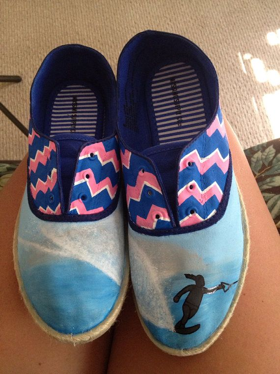 Waterski and Chevron Toms. NOTE Made to order- whatever you wish