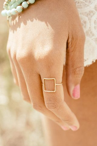 Squared Off Twisted Wire Ring