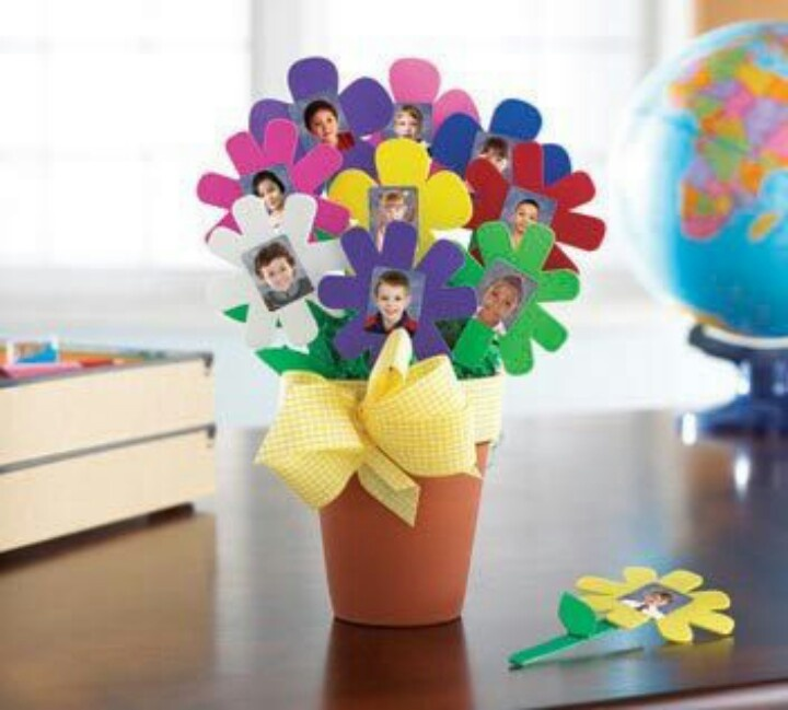Interesting flower pots with personalised individual photo.