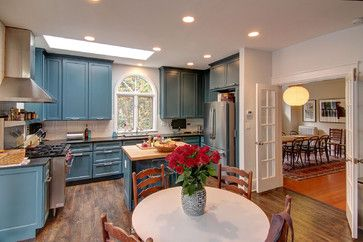 Kitchens With Bisque Appliances And Painted Cabinets Kitchen Design Ideas, Pictures, Remodel and Decor
