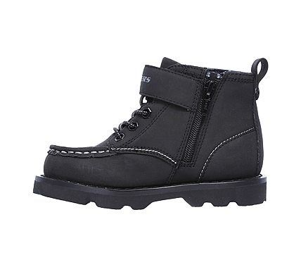 Skechers Kids' Bowland Axwood High Top Boot Toddler Shoes (Black)
