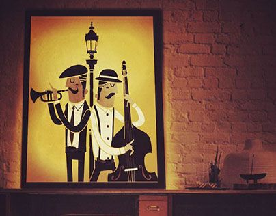 """Check out new work on my @Behance portfolio: """"It's all about Jazz handmade lamp."""" http://be.net/gallery/50306695/Its-all-about-Jazz-handmade-lamp"""