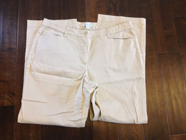 Coldwater Creek Womens Khakis Pants Size W18 #ColdwaterCreek #KhakisChinos