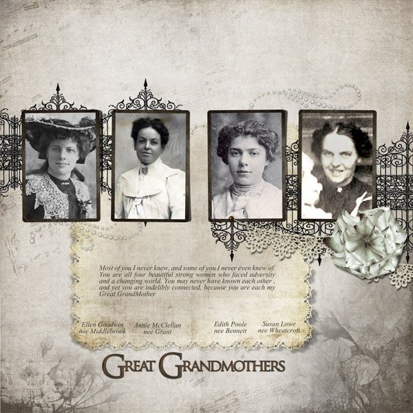 Great Grandmothers - Digital Scrapbook Place Gallery