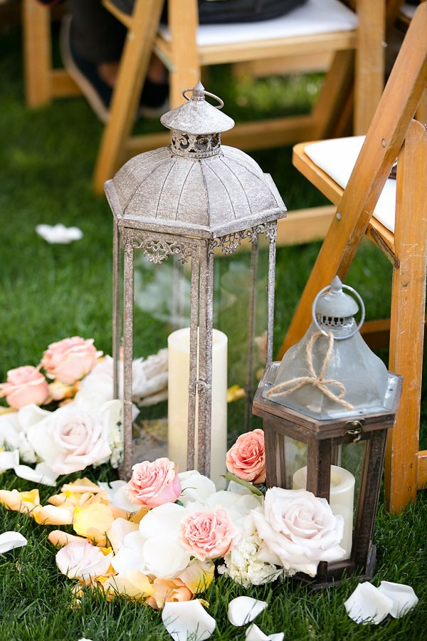 An excuse to buy more lanterns!   Lantern aisle decor, beautiful. | Wedding Planing: Swann Soirees