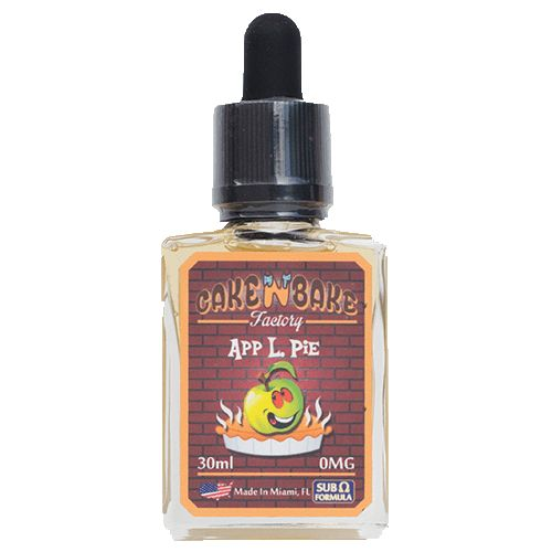 Cake N Bake Factory eJuice App L. Pie - Bye-bye Miss American Pie, hello App L. Pie. This savory blend is as good as it gets and it's a fitting tribute to America's number-one baked good, the traditional Apple Pie. Our Baker's top secret recipe ends up just like your Granny used to do it, with just the right amount of sweet apple, assorted nuts, creams, spices and pie crust. Good luck keeping App L. Pie stocked in your house, it's impossible to have just one bottle.Ready to pay tribute to…