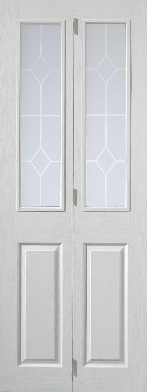 Canterbury Textured BiFold  White Primed Doors