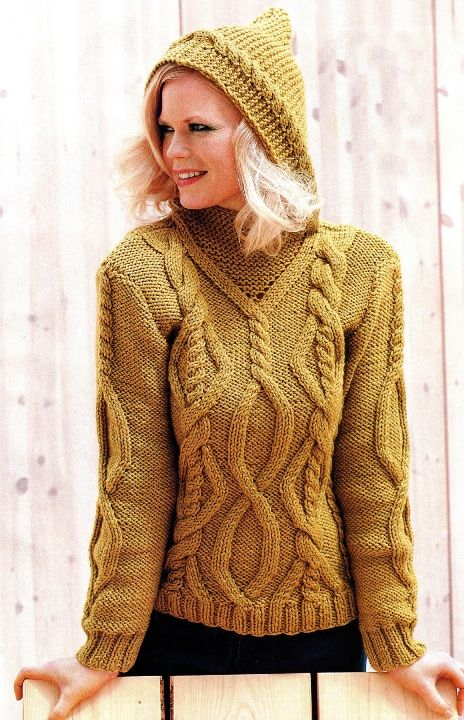 Russian site - great cables for that poncho pattern I'd found