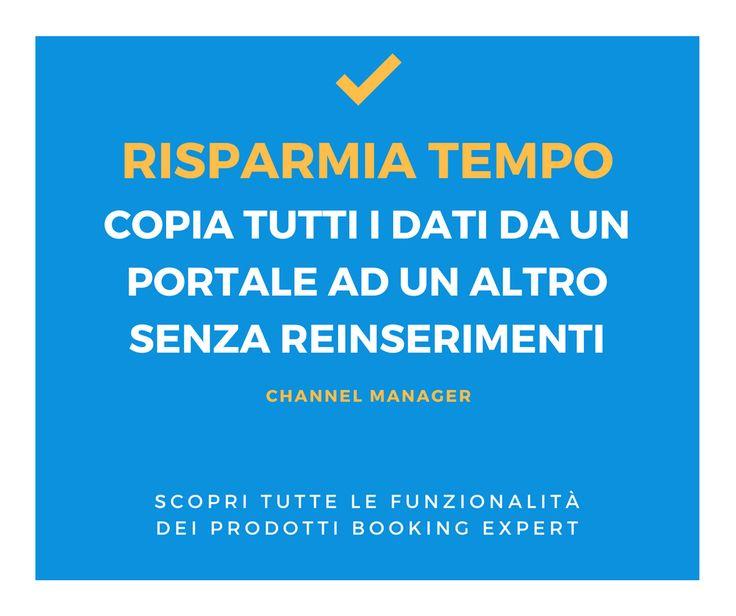 Grazie al Channel Manager puoi aggiornare tutti i portali di distribuzione online da un solo back-office! Scopri com'è semplice, rapido ed affidabile: http://www.bookingexpert.it/channelmanager.html
