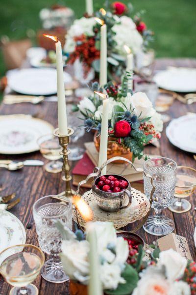 Cranberry hues: http://www.stylemepretty.com/oregon-weddings/portland/2015/03/31/winters-dawn-wedding-inspiration-shoot/ | Photography: Mary Alice Hall - http://www.maryalicehall.com/