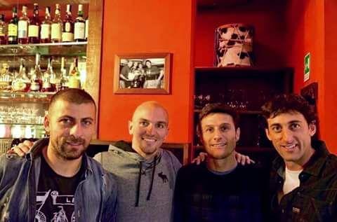 Walter Samuel, Esteban Cambiasso, Javier Zanetti, and Diego Milito - The Argentinian core of Inter Milan