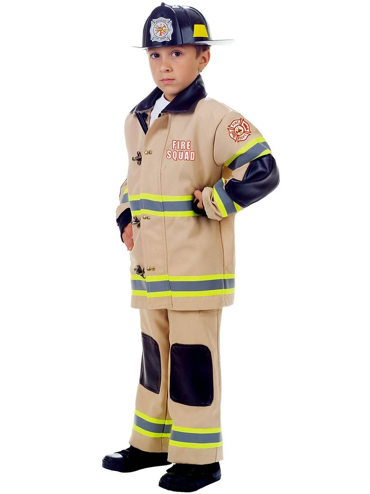 tan fire fighter boys cosutme - Fireman Halloween