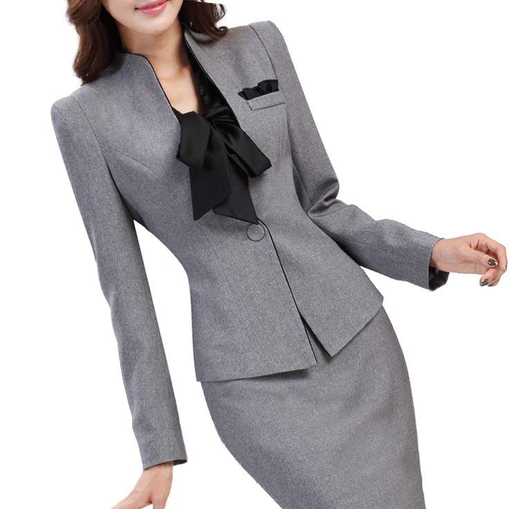 Купить товарРабочая одежда мода женская одежда тонкий с длинными рукавами пиджак с офис дамы формальные пр брюки костюм Большой размер куртки комплект в категории Брючные костюмына AliExpress.        Работы износа моды женщин стройная ж�%