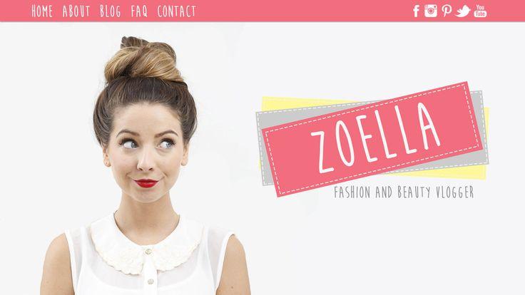 Zoella Website Design   Zoe Sugg