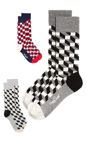 65b693794f11 Happy Socks Happy Feet Optical Illusion Socks Fun Socks Cube Pattern Socks  Cube Print Socks Cotton Polyester Men Teenager Boy Socks Gift Holiday Gift  ...