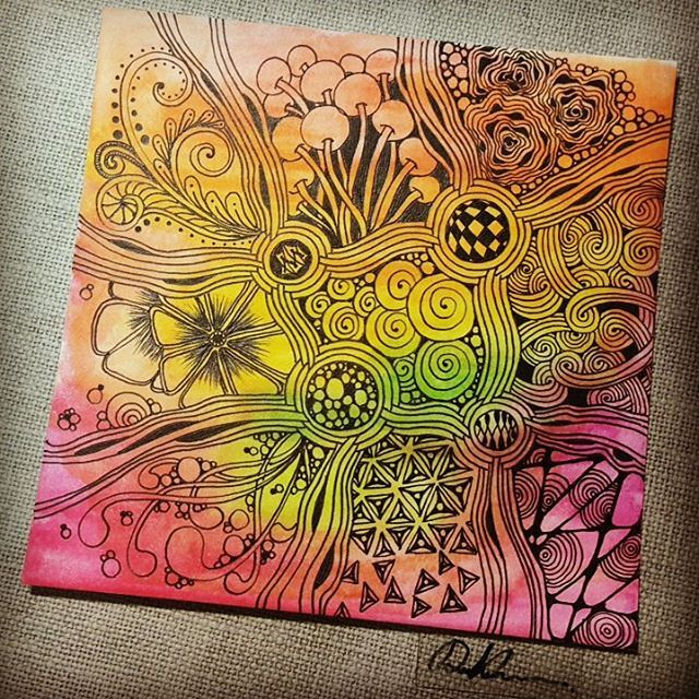 Zentangle 061916. Welcome to come to visit my FB Fan Page…