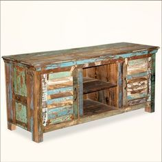 tv stands for flat screens wooden pallet | ... Doors Reclaimed Wood TV Stand Media Console eclectic media storage