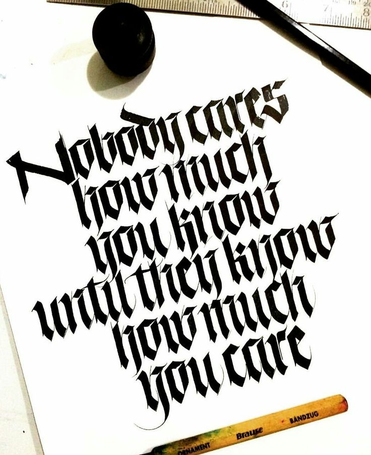87 Best Broad Edged Calligraphy Images On Pinterest