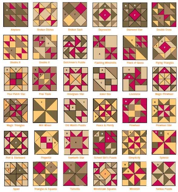 HST quilt block possibilities