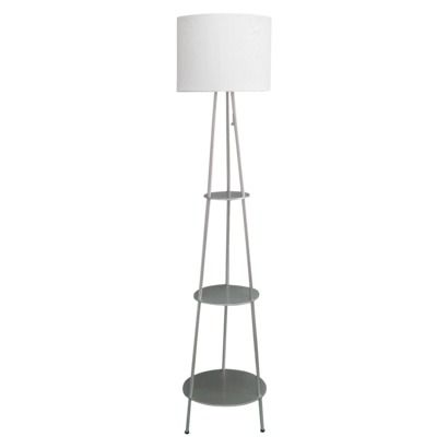 room essentials floor shelf lamp silver a fun modern lamp to add. Black Bedroom Furniture Sets. Home Design Ideas